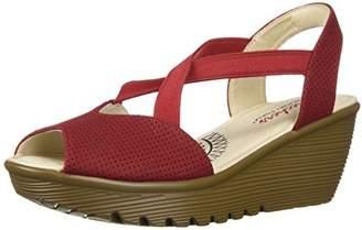 Skechers Women's Parallel-Piazza-Peep Toe Go Slingback Wedge Sandal