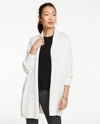 Ann Taylor Petite Drop Shoulder Open Cardigan