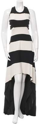 Jay Ahr Striped Cutout Dress