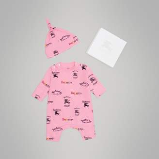 Burberry Archive Logo Two-piece Baby Gift Set , Size: 3M