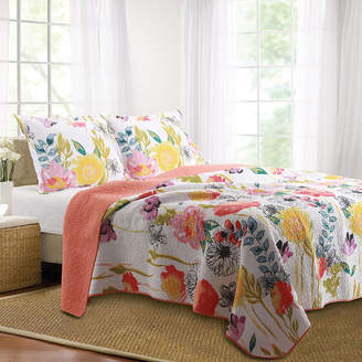 Greenland HOME FASHIONS Home Fashions Watercolor Dream Floral Quilt Set