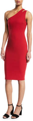 Bailey 44 Sidewinder One-Shoulder Knee-Length Dress