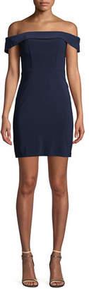 Faviana Off-the-Shoulder Mini Dress