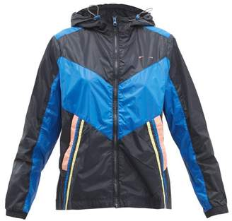 The Upside Colour Block Technical Track Jacket - Womens - Navy Multi