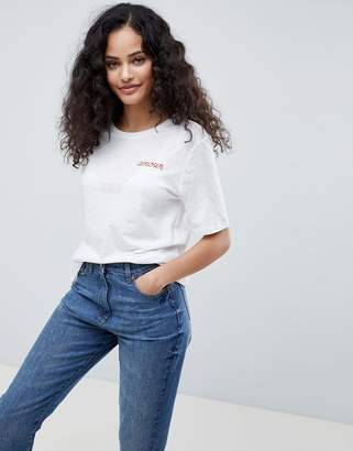 Only Bon Amour Embroidered T-Shirt