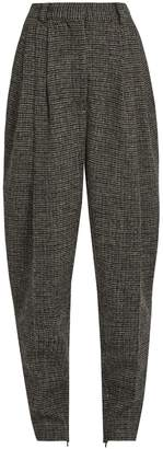 HILLIER BARTLEY High-rise carrot-leg checked-wool trousers