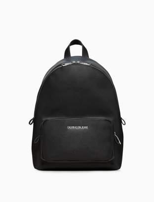 Calvin Klein smooth essentials logo campus backpack
