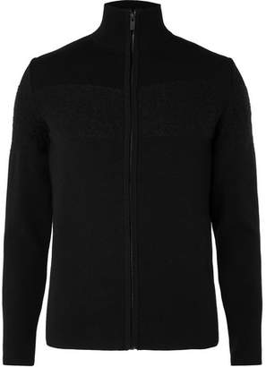 Fusalp Frosty Panelled Knitted Zip-Through Cardigan
