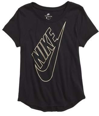 Nike Sportswear Metallic Logo Graphic Tee