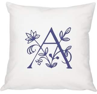 Floral Monogram Accent Pillow