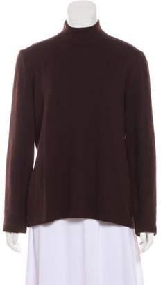 St. John Wool-Blend Mock Neck Sweater