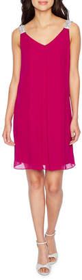 MSK Sleeveless Trapeze Dress