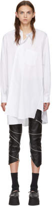 Comme des Garcons White Asymmetric Shirt Dress