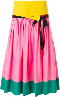 Philosophy di Lorenzo Serafini colour block full skirt