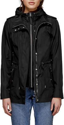 Mackage Melita Water-Resistant Jacket w/ Bib