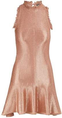 Alexander McQueen Metallic mini dress