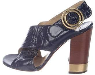Chloé Crossover Slingback Sandals