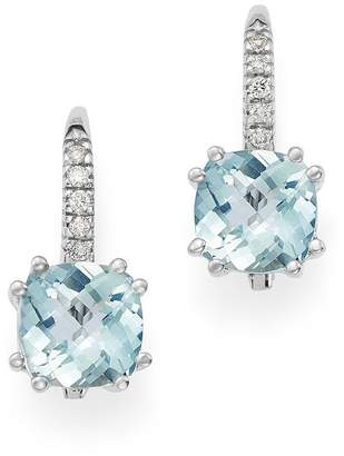 Bloomingdale's Aquamarine & Diamond Earrings in 14K White Gold - 100% Exclusive