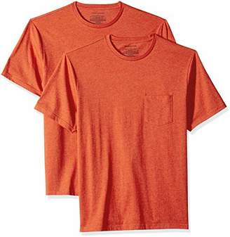 Amazon Essentials Men's 2-Pack Loose-fit Crew Pocket T-Shirt