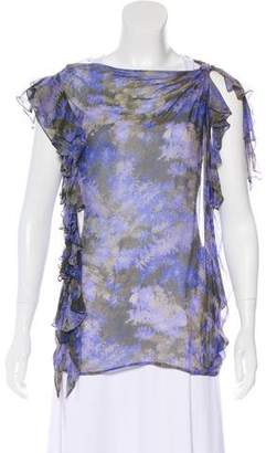 3.1 Phillip Lim Printed Sheer Blouse