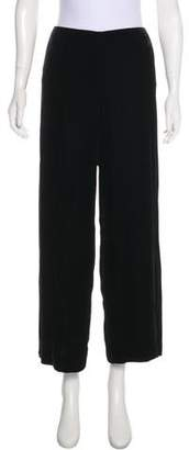 Ralph Lauren Black Label Mid-Rise Velvet Pants