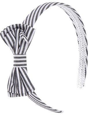 Stripe Bow Headband