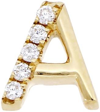 Bony Levy Single Diamond Initial Stud Earring