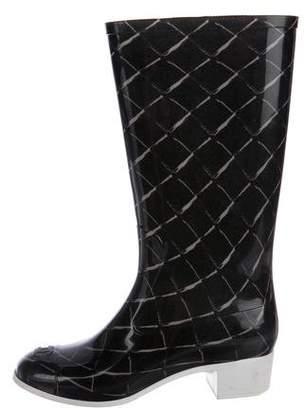 Chanel CC Rain Boots
