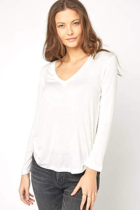 Sam&lavi Sam & Lavi Long Sleeve V Neck Tee