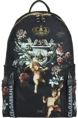 Dolce & Gabbana Vulcano Backpack With Angels Print