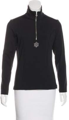 NILS Embellished Zip-Up Pullover