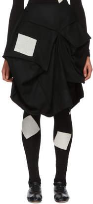 Yohji Yamamoto Black Wool Cube Box Skirt