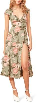 Reformation Gwenyth Polka Dot Wrap Dress