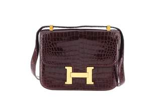 Hermes Constance Red Crocodile Handbag