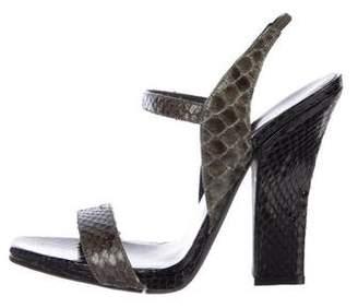 Narciso Rodriguez Snakeskin Ankle Strap Sandals