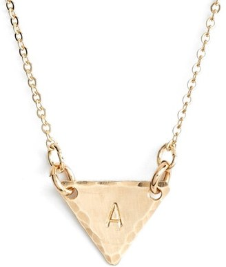 Women's Nashelle 14K-Gold Fill Initial Triangle Necklace $60 thestylecure.com