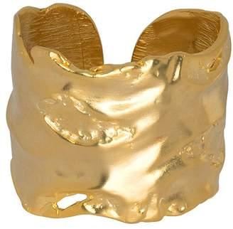 Kenneth Jay Lane Gold Free Form Cuff