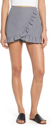 Mimichica Mimi Chica Ruffle Trim Gingham Skirt