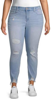 Arizona Superflex Ankle Womens Skinny Stretch Jeggings - Juniors Plus