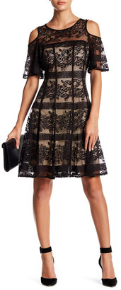 Gabby Skye Cold Shoulder Lace Dress $98 thestylecure.com