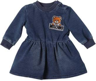 Moschino Denim Effect Cotton Dress