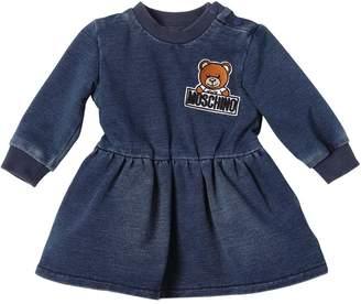 Moschino Denim Effect Cotton Dress