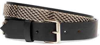 Lanvin - Gold-plated Leather Belt $595 thestylecure.com