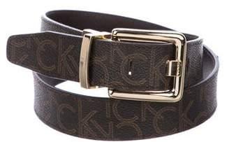 Calvin Klein Leather Logo Belt