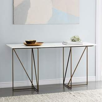 west elm Marble + Brass Geo Desk