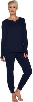 Anybody AnyBody Loungewear Cozy Knit Waffle Pajama Set