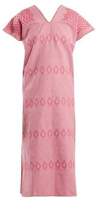 Holt - No.41 Embroidered Cotton Kaftan - Womens - Pink