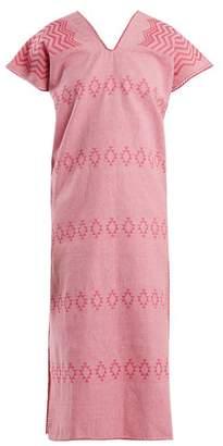Pippa holt Holt - No.41 Embroidered Cotton Kaftan - Womens - Pink