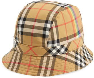 b50837639101 Burberry Rainbow Stripe Vintage Check Bucket Hat