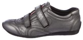 Prada Sport Leather Velcro Sneakers